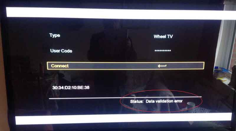 How to solve data validation error of Wheel TV – SOLOVOX