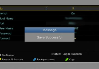 Back up the CCCAM accounts on SOLOVOX V6S